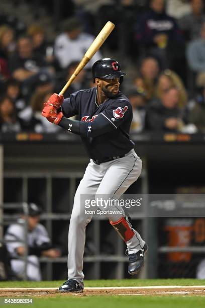 Cleveland Indians third baseman Yandy Diaz at bat during a game between the Cleveland Indians and the Chicago White Sox on September 6 at Guaranteed...