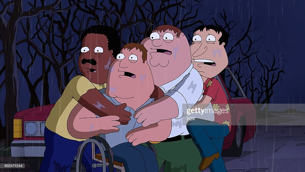 Cleveland, Joe, Peter and Quagmire in the 'Peternormal Activity' season 13 premiere episode of FAMILY GUY airing Sunday, Sept. 27 (9:00-9:30 PM ET/PT) on FOX.
