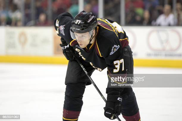 Cleveland Monsters LW Markus Hannikainen during the second period of the AHL hockey game between the Charlotte Checkers and Cleveland Monsters on...