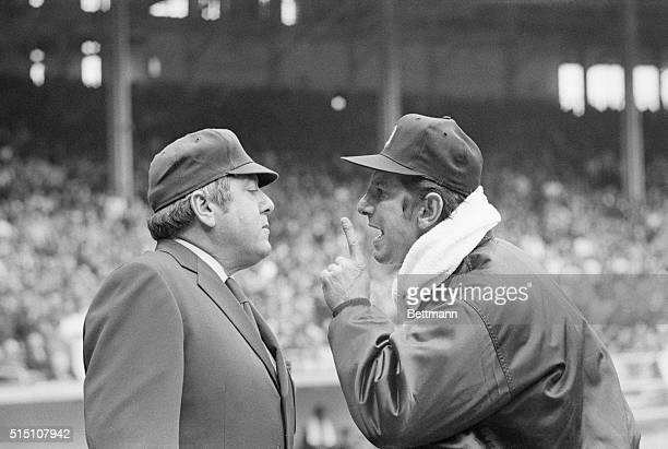 It didn't take long for Detroit manager Billy Martin to get into a disagreement with an umpire during the regular season Martin exchanged words with...