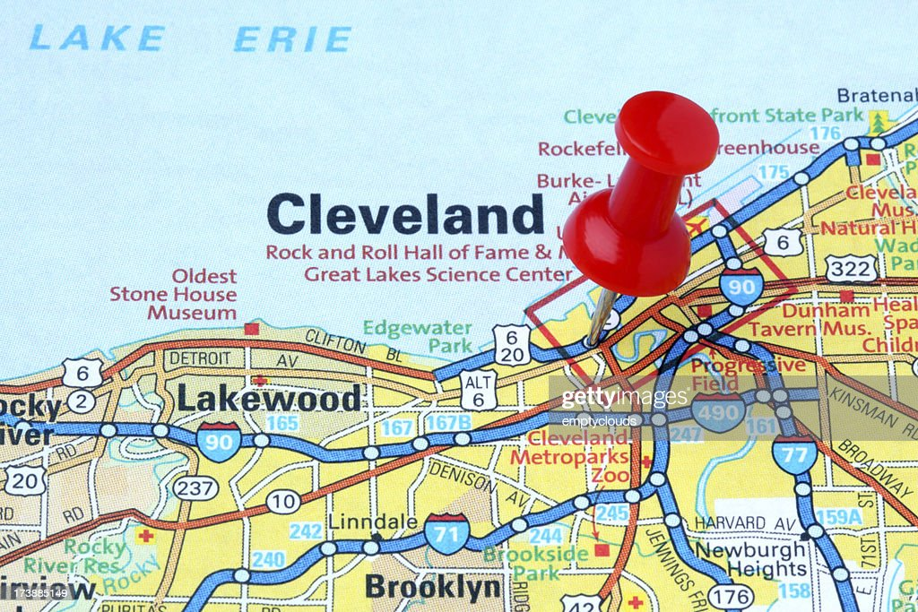 Cleveland Ohio Stock Photos And Pictures Getty Images - Cleveland ohio usa map