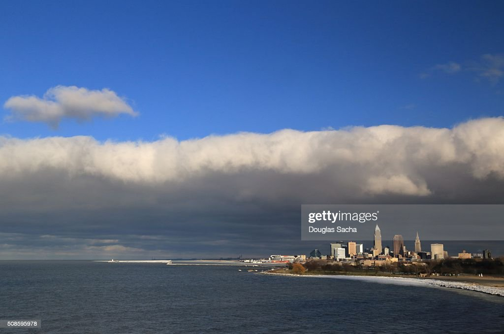 Cleveland on the Lake Erie Shore : Stock Photo