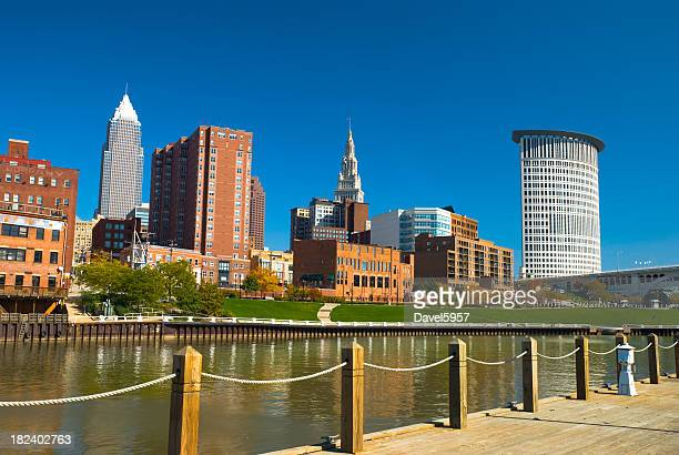 Cleveland skyline and river
