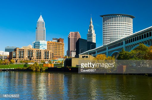 Cleveland Skyline, Bridge, and River