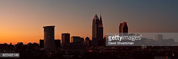 Cleveland skyline silhouette