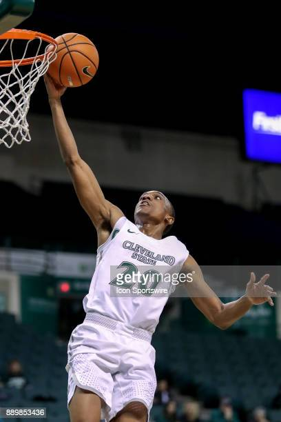 Cleveland State Vikings Bobby Word lays the ball in the basket for a score during the second half of the men's college basketball game between the...