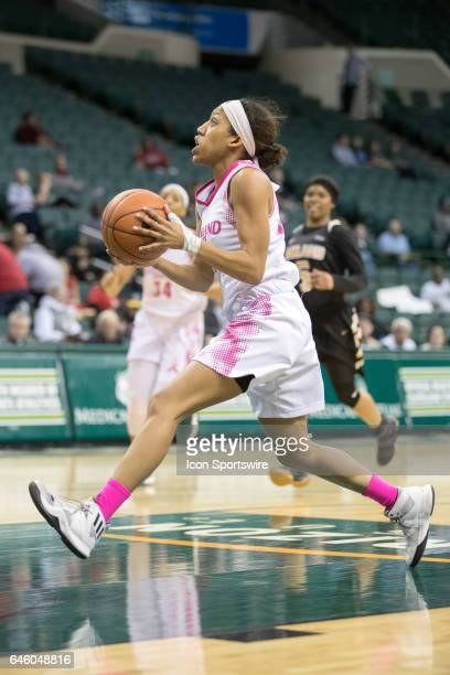Cleveland State Vikings G Chrishna Butler drives to the basket during the first quarter of the women's college basketball game between the Oakland...