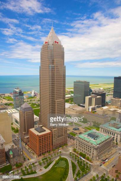 Cleveland's Key Tower skyscraper from up high