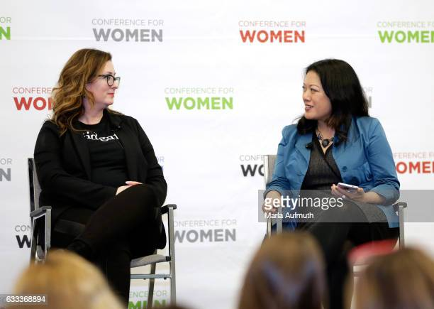 Clever CEO and founder Cat Lincoln and Altimeter Group founder and CEO Charlene Li speak during the Leadership Now The Transformative Power of Being...