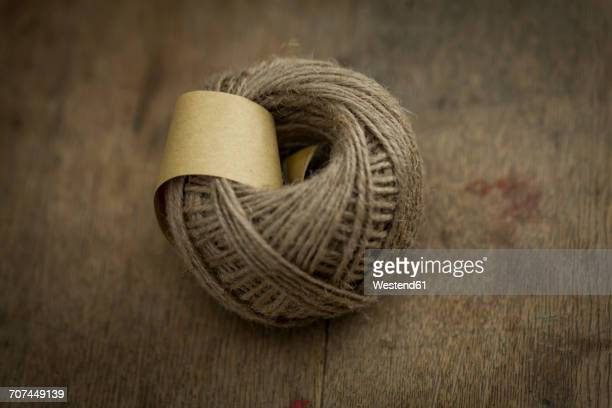 Clew of cord on wood