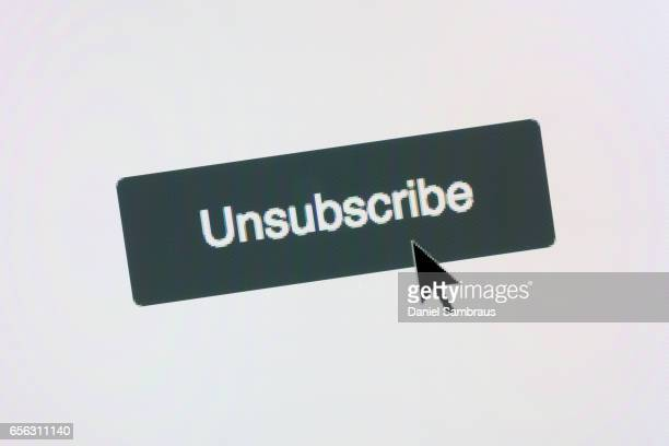 Clicking on UNSUBSCRIBE web button on website