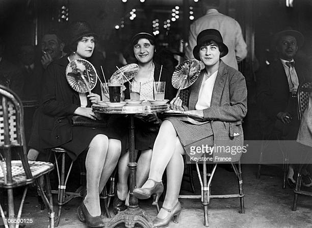 Clients Of A Parisian Cafe 1929