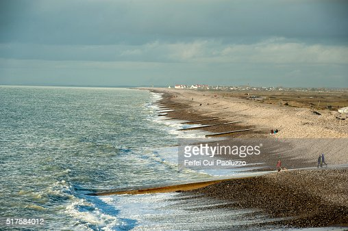 Cliff and Beach of Ault in Somme department France