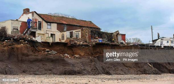 Cliff Farm close to Skipsea has been left teetering on the edge and will be lucky to last another year Owner Colin Arnold and his family continue to...