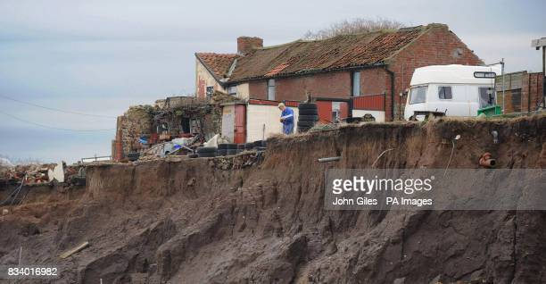 Cliff Farm on the East Coast close to Skipsea has been left teetering on the edge of the North Sea and will be lucky to last another year Owner Colin...