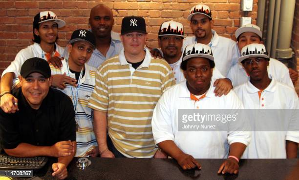 Cliff Floyd and NewEra NYC staff during NewEra New York Store Opening May 20 2006 at NewEra New York Store in New York City New York United States