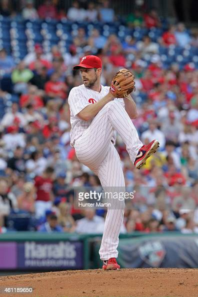 Cliff Lee of the Philadelphia Phillies during a game against the San Francisco Giants at Citizens Bank Park on July 21 2014 in Philadelphia...
