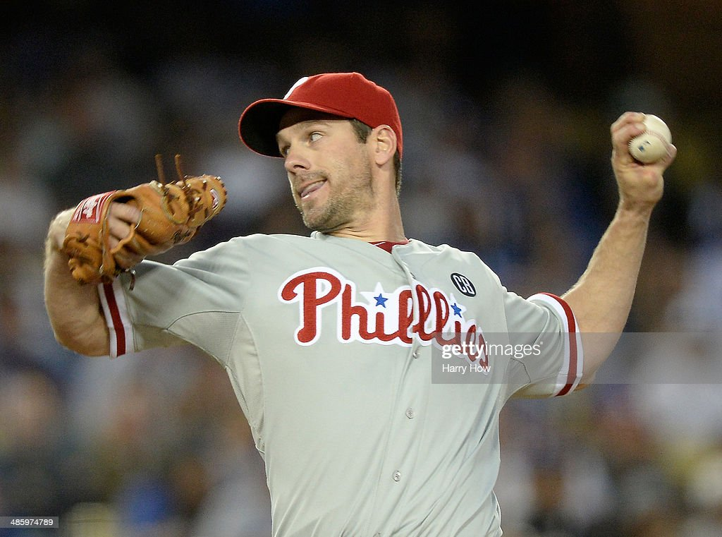 <a gi-track='captionPersonalityLinkClicked' href=/galleries/search?phrase=Cliff+Lee&family=editorial&specificpeople=218092 ng-click='$event.stopPropagation()'>Cliff Lee</a> #33 of the Philadelphia Phillies pitches against the Los Angeles Dodgers during the first inning at Dodger Stadium on April 21, 2014 in Los Angeles, California.