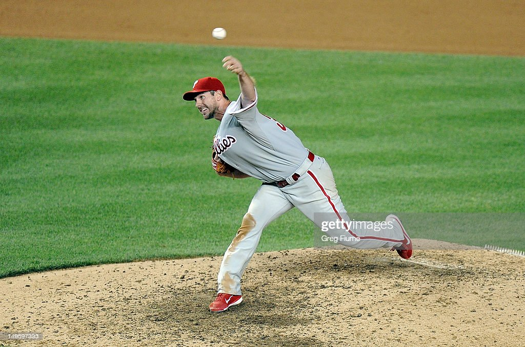 <a gi-track='captionPersonalityLinkClicked' href=/galleries/search?phrase=Cliff+Lee&family=editorial&specificpeople=218092 ng-click='$event.stopPropagation()'>Cliff Lee</a> #33 of the Philadelphia Phillies pitches against the Washington Nationals at Nationals Park on July 31, 2012 in Washington, DC.