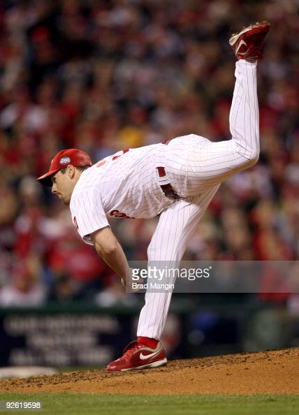 Cliff Lee of the Philadelphia Phillies pitches during Game Five of the 2009 MLB World Series at Citizens Bank Park on November 2 2009 in Philadelphia...