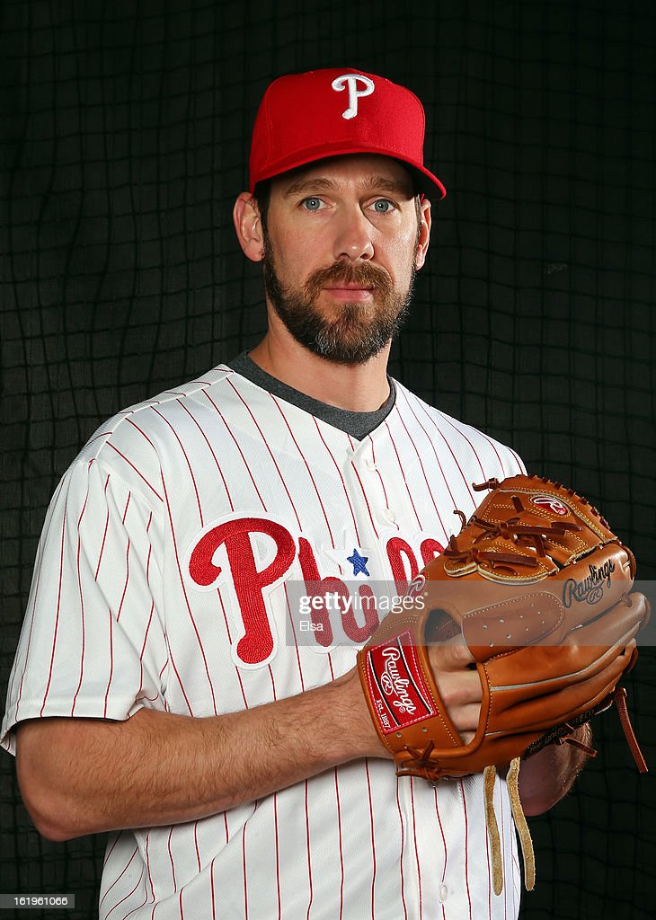 Cliff Lee #33 of the Philadelphia Phillies poses for a portrait on February 18, 2013 at Bright House Field in Clearwater, Florida.