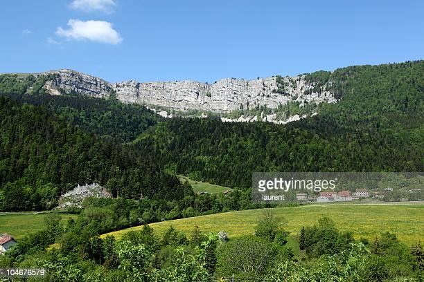 Cliff of Piquemiette in Franche Comté, France