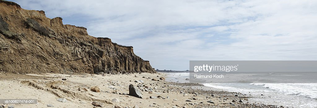 Cliff on beach