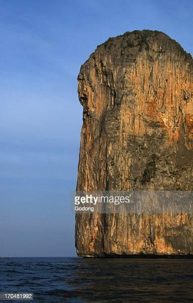 Cliff on Koh Phi Phi Co Phi Phi Thailande