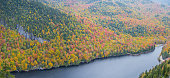Cliff over Lower Ausable Lake in Adirondack Mountains