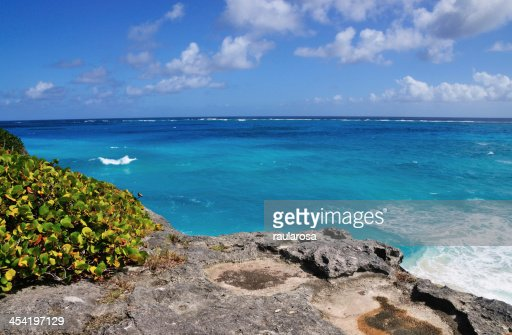 Cliff Over Ocean : Stock Photo