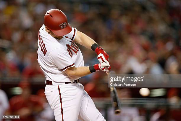 Cliff Pennington of the Arizona Diamondbacks bats against the Colorado Rockies during the MLB game at Chase Field on July 3 2015 in Phoenix Arizona