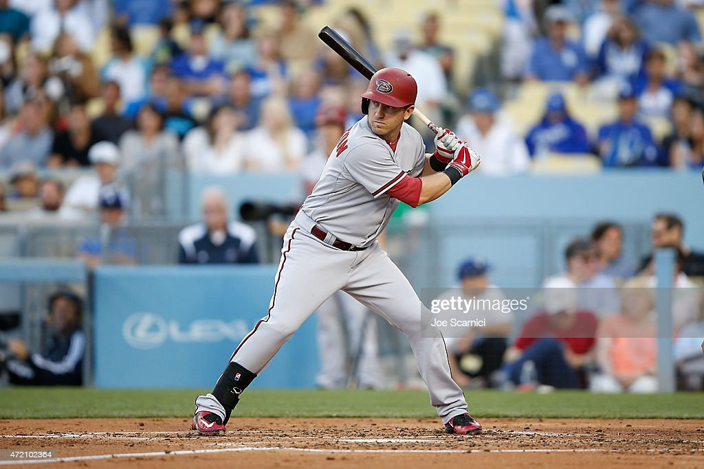 Cliff Pennington of the Arizona Diamondbacks waits for his pitch in the second inning against the Los Angeles Dodgers at Dodger Stadium on May 2 2015...