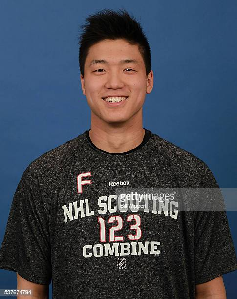 Cliff Pu poses for a headshot at the 2016 NHL Combine on June 2 2016 at Harborcenter in Buffalo New York