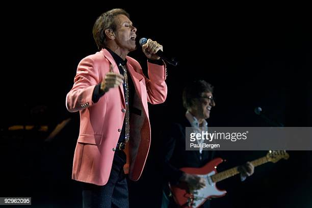 Cliff Richard and Hank Marvin of The Shadows perform on stage at Ahoy on November 10 2009 in Rotterdam Netherlands