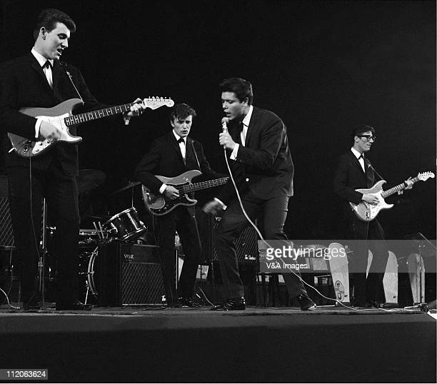 Cliff Richard and The Shadows perform on stage Bruce Welch Jet Harris Cliff Richard Hank Marvin at the NME Poll Winners Concert Wembley Empire Pool...
