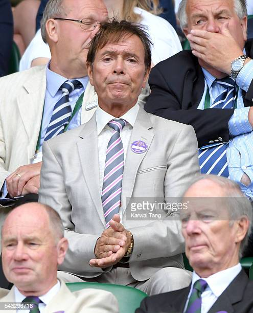 Cliff Richard attends day one of the Wimbledon Tennis Championships at Wimbledon on June 27 2016 in London England