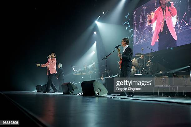 Cliff Richard Bruce Welch and Hank Marvin perform at Oslo Spektrum on November 23 2009 in Oslo Norway