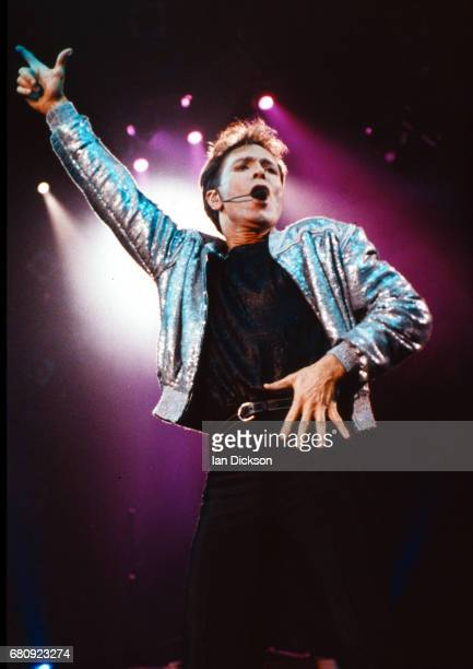 Cliff Richard performing on stage at NEC Birmingham 01 November 1990