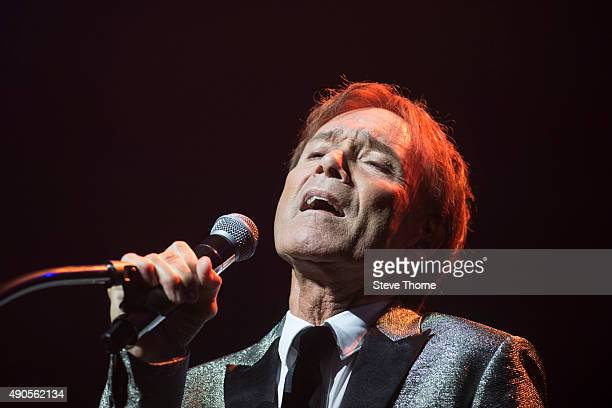 Cliff Richard performs at Symphony Hall on September 29 2015 in Birmingham England
