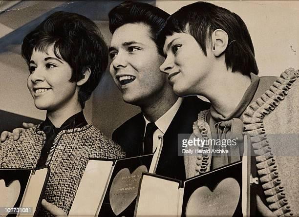 'Cliff Richard Rita Tushingham and Helen Shapiro' 1961 Daily Herald photograph of three winners at the Variety Awards 1961 Cliff Richard won the...