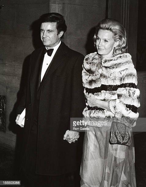 Cliff Robertson and Dina Merrill during Cliff Robertson File Photos c 1970 at Waldorf Hotel in New York City New York United States