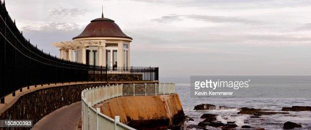 Cliff Walk Gazebo Panorama : Stock Photo