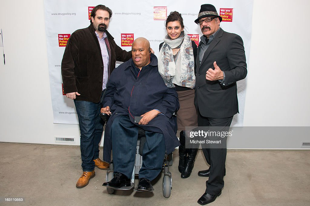 Clifford Dodd, Terence Stevens, Iryna Walts and Tony Papa attend the 2013 re:FORM Art Benefit at C24 Gallery on March 4, 2013 in New York City.