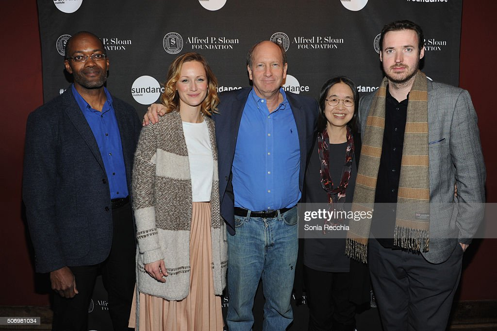 Clifford Johnson Kerry Bishe Doron Weber Ting Wu and Mike Cahill attend the Alfred P Sloan Foundation Reception and Prize Announcement during the...