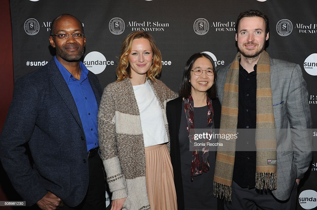 Clifford Johnson Kerry Bishe Ting Wu and Mike Cahill attend the Alfred P Sloan Foundation Reception and Prize Announcement during the 2016 Sundance...