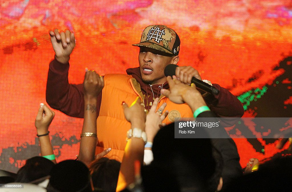 Clifford Joseph Harris, Jr., aka T.I. performs at BET's '106 & Party' 2013 New Years Eve party at BET Studios on December 17, 2012 in New York City.