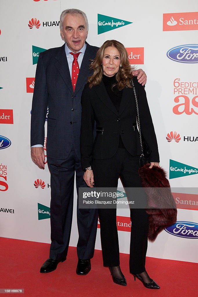 Clifford Luyk and Paquita Torres attend 'As Del Deporte' Awards 2012 at The Westin Palace Hotel on December 10, 2012 in Madrid, Spain.