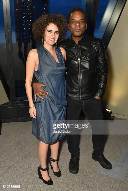 Clifford Owens and Karina Aguilera Skvirsky attend Abstracted Black Tie Dinner Hosted by Pamela Joyner Fred Giuffrida and the Ogden Museum of...
