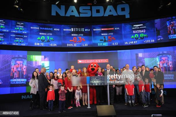 Clifford the Big Red Dog EVP Scholastic and President Scholastic Medi Deborah Forte and VP NASDAQ Marketsite Global Events Products and Strategy...