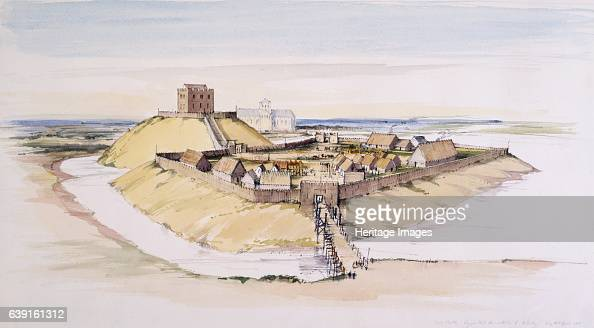 Clifford's Tower late 11th century A reconstruction drawing of the motte bailey early timber buildings late 11th century built on the orders of...